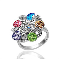 18K gold plated ring fashion  Austrian crystals italina ring,Nickle  antiallergic factory prices uug rfi GPR018