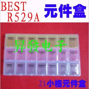10PCS Component box 21 grid boxes of parts IC Box(China (Mainland))