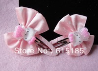 Free shipping mix order $15 hello kitty hair grips children Hair accessories 20prs/ a lot-N10 (1)