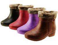 2013 Autumn & Winter fashion ladies Eva women's  Lightweight EVA Waterproof  rain snow  thermal work boots water shoes 4 Colors