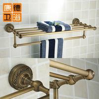 Antique towel rack vintage copper double layer towel rack fashion antique brass towel bar