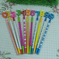 Freeshipping Gift flat letter digital cartoon graphic patterns mark of pencil 10pcs/set school supply novelty stationery