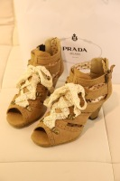 New arrival 2013 women's shoes lace thick heel open toe sandals high-heeled shoes