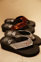 3 flip flops platform wedges platform flip female beach slippers sandals