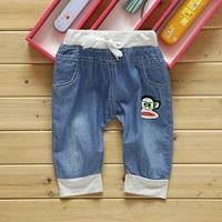 2013 children's clothing summer trousers child summer denim casual shorts capris knee-length pants capris