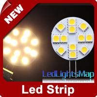 EMS Free Shipping G4 12 SMD 5050 LED Day Warm White Light Car RV Boat Bulb Lamp Wholesale 100pcs/lot
