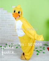 1pcs hot sale Yellow duck Cosplay Costumes Animal Leopard Anime Pyjamas Sleepwear new