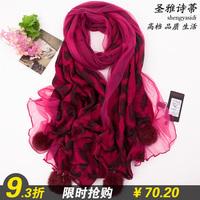 Silk scarf women's scarf 2013 cape scarf dual gs-6816 quality scarf wa177