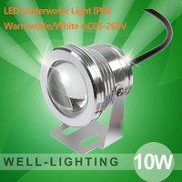10W LED Underwater Light  COB AC85-265V Spot Light +Warmwhite+White+IP68 Waterproof outdoor,Free Shipping