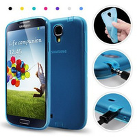 Top Quality(5pcs/lot)TPU Free Shipping case with Dust Proof Plugs For Samsung I9500 I9502 Galaxy S IV cell phone cover case
