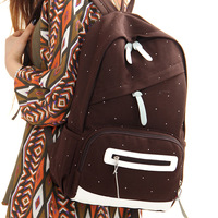 Free shipping Brief Solid Color Fashionable Canvas Casual Backpack
