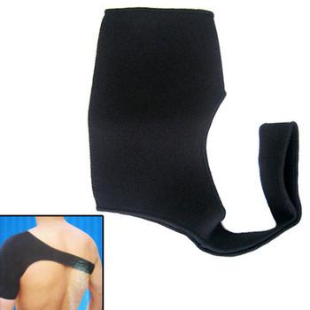 Free Shipping New Neoprene Sport Single Shoulder Sheath Stretchy Support Wrap Brace Black 8197