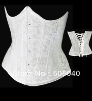 Cheap Price Wholesale and Retails White Sexy Bustier for Free Shipping