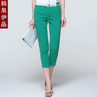 Free shipping 2013 summer Women elastic trousers capris casual pencil pants female
