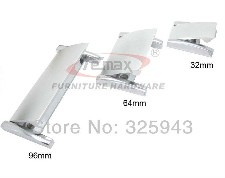 2PCS 32mm Aluminum Furniture Handle Kitchen Cabinets Knobs Handles Dresser Drawer Pulls Hidden Recessed Bar(China (Mainland))