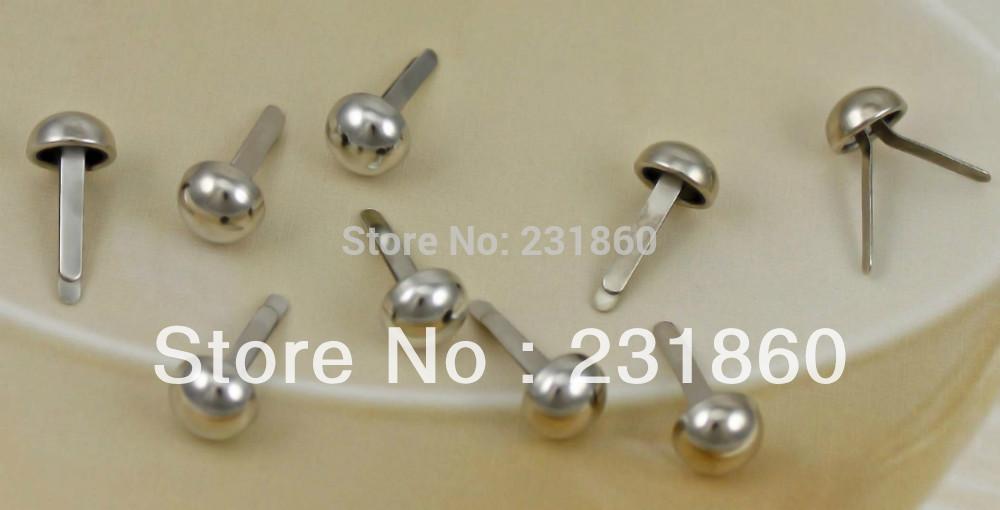 100 Silver Metal Brad Paper Fastener Scrapbooking Embellishments Crafts(China (Mainland))