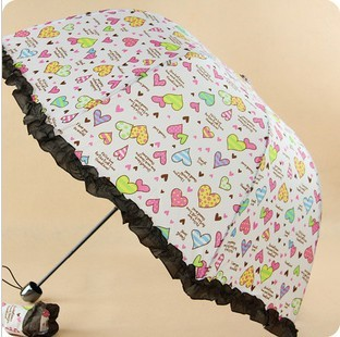 Structurein 2013 princess three fold umbrella sa996 folding umbrella sun umbrella