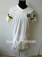 Free shipping,13/14 season top quality Santos home white soccer jersey