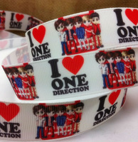 "Free Shipping 50 yards 7/8"" 22mm I have ONE DIRECTION girl printed grosgrain ribbon hairbow wholesales yf"