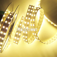 free shipping Double Row 5050 Warm White LED Strip 5M 600 leds 120 leds/m SMD Light NP 12V DC