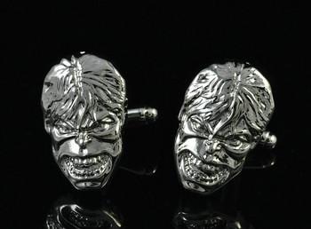 New Men`s Wedding Party Gift Superhero Skull Hulk Head Marvel Cufflinks