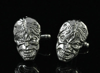 New Men`s Wedding Party Gift Superhero Skull Hulk Head Marvel Cufflinks
