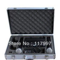 NEW Stage UHF Dual WIRELESS CORDLESS MIC MICROPHONE SYSTEM with case