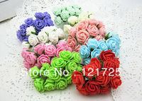 Free shipping foam roses artificial flower handmade wedding candy box accessories flower gift box accessories flower