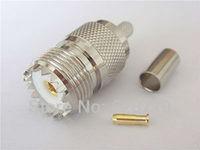 UHF  female Crimp connector for RG58, LMR195,RG223,RG142