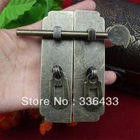 Home Improvement Hardware Cabinet Box buckle clasp Antique door latch fastener strip box buckle clasp lock on the door