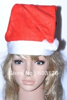 10Pcs/Lot Free Shipping Christmas Santa Claus Hats Nonwovens Christmas Caps Soft and comfortable material Christmas Outfit Gifts