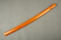 Samurai Sword Japanese Katana Wooden Orange Wooden Saya Sheath Scabbard SYQ7