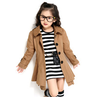 Free shipping Children's clothing spring 2013 female child trench outerwear princess child trench spring 5875