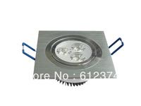 Free shipping 10pcs/lot 3w Square LED Downlight Light Ceiling Lamp Pure/Warm White Spot Lighting