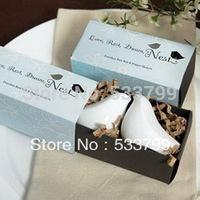 Blue Gift box Package Love Birds Salt & Pepper Shakers Sample Order Salt&Pepper Shakers+10sets/lot+FREE SHIPPING