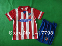 hot! 13/14 At Mardid home kid kits Free ship soccer jerseys thai quality