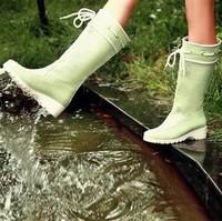 waterproof PU rain boots candy color sweet boots fashion rain boot female boots