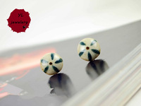 YuLin Fashion Jewelwey ! Free Shipping! Top Sale! YL.002E Stuud Earring ! Stylish Exquisite Round  Ceramic Stud Earrings!!
