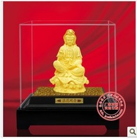 YZ-R6012 24K gold craft/ Gold Handicraft/corporate gift/fengshui Chinea a buddism godness Guanyin statue for prayer