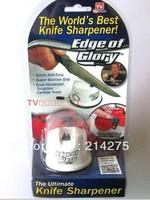 Free shipping 200pcs/lot sharpener Edge Of Glory Knife Sharpener Cutting Blade Sharp Kitchen Gadgets