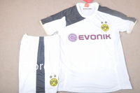 New Season! 13/14 Dortmund Borussia Goalkeeper White Soccer Jersey & Short Kit Uniforms with Embroidered Logo