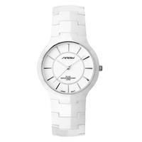 Watch the trend of female fashion white ceramic ladies watch brief ceramic table fashion table