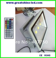 high power Ip65 waterproof 150w 44key or 24 key ir  remote rgb  led flood light used for stations and warehouses lighting