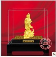 YZ-R6016 24K gold craft gift / hoem decor/Tibetan gold plated Buddhist Guanyin bodhisattva statue  Avalokitesvara For home pray