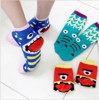 High Quality Women Sweet Socks Autumn Funny Cotton Sock For Woman Girl Ladies Short Socks 10pairs/lot Wholesale