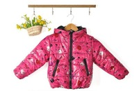 Free Shipping! fashion baby girls clothing Children winter long sleeve zip hoode fruit jacket baby girls brand name za** coat