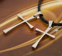 Men's titanium steel cross pendant jewelry wholesale