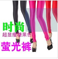 Autumn ankle length trousers female candy color  pants trousers personalized gym womens leggings