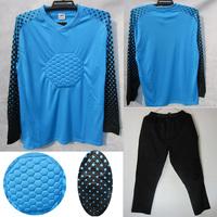 Doorkeepers football goalkeeper uniforms lungmoon goalkeeper jersey goalkeeper clothing long-sleeve set