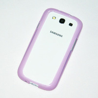 Ultra Thin Bumpers Frame for Samsung Galaxy S3 i9300   , Slim Flexible  Hard Case Cover Bumper For Samsung Galaxy S3 i9300